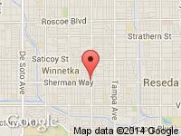Map of Credit Mundo Auto Sales at 19701 Sherman Way, Los Angeles, CA 91306