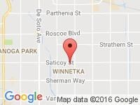 Map of 818 Auto Sales at 20200 SATICOY ST. STE A, Winnetka, CA 91306