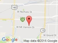 Map of Linn Motors Inc at 527 S Scenic Ave, Springfield, MO 65802