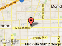 Map of Highline Auto Group at 3894 E. Mission Blvd., Montclair, CA 91763