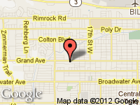 Map of Dana Motors at 2046 Grand Ave., Billings, MT 59102