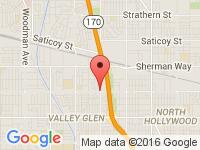 Map of Superior Kar Company at 12505 Vanowen St., North Hollywood, CA 91605