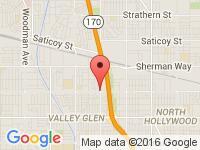 Map of Superior Kar Company at 12505 Vanowen St., North Hollywood, CA 91605