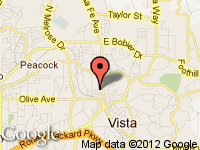 Map of PROVIDENT AUTO SALES INC. at 536 NORTH SANTA FE AVENUE, Vista, CA 92083