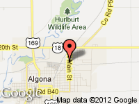 Map of BUSCHER BROS RV at 1015 N. Main St., Algona, IA 50511