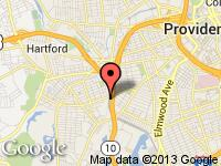 Map of Donald's Car Corner at 295 HUNTINGTON AVE, Providence, RI 02909