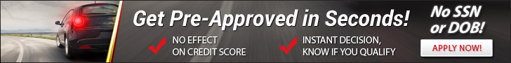 Get Pre-approved in seconds; No effect on credit score; Instant decision know if you qualify; No SSN or DOB