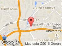 Map of US San Diego at 5901 Mission Gorge Rd, San Diego, CA 92120