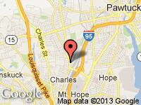 Map of The Car Store at 1 Colfax St, Pawtucket, RI 02860