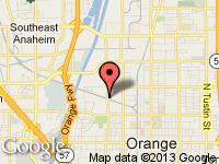 Map of UNITED AUTOMOTIVE CERTIFIED PRE-OWNED VE at 777 N. MAIN STREET, Orange, CA 92868