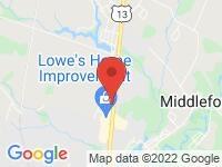 Map of IntelliCar Smyrna at 244 S Main St, Smyrna, DE 19977