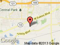 Map of Findmeavan.com at 11214 S Pipeline RD, Euless, TX 76040