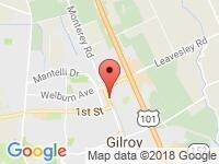 Map of Auto Network Gilroy at 7998 Monterey St A, Gilroy, CA 95020