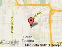 Map of Rainier Auto Group at 4326 S Tacoma Way, Tacoma, WA 98409