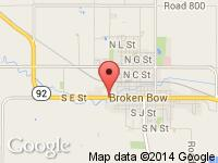 Map of Forrester's Auto Sales at 1842 South E St, Broken Bow, NE 68822