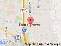 Map of Dave Morton Auto Sales at 270 Lancaster Dr SE, Salem, OR 97317