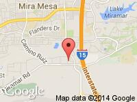 Map of VIP Autos at 9485 Black Mountain Rd., San Diego, CA 92126