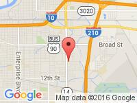 Map of Lake Charles at 1501 HWY 14, Lake Charles, LA 70615