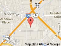 Map of Ultimate Motorsports at 10311 Altonbury Lane, Houston, TX 77031