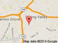 Map of Auto Pawn San Diego at 8939 Troy Street, Spring Valley, CA 91977