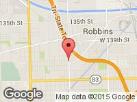 Map of Rexford Automotives at 14300 S Pulaski Rd, Midlothian, IL 60445