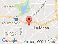 Map of Automotive Management Agency at 7400 El Cajon Bl Suite 105, San Diego, CA 91942