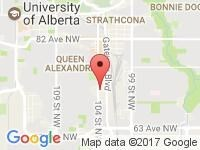 Map of  at 7109 104th St, Edmonton, AB T6E 4B7