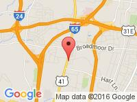Map of Icon Motors LLC at 2931 Dickeson Pike, Nashville, TN 37207