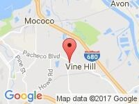Map of Ace Auto Dealers at 3610 Pacheco Blvd, Unit B, Martinez, CA 94553