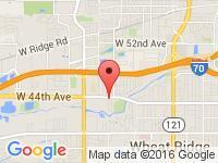 Map of Rock Auto, LLC at 9200 W 44th Ave, Wheat Ridge, CO 80033