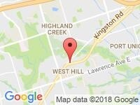 Map of Octane Used Cars at 4614 Kingston Road, Scarborough, ON M1E 2P4