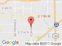 Map of Las Americas Auto Sales # 2 at 1626 S Memorial Drive, Tulsa, OK 74112