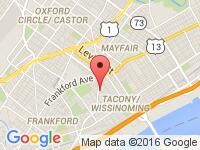Map of Red Carpet Auto at 6031 Harbison Ave., Philadelphia, PA 19135