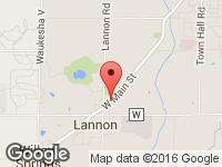 Map of Luxury Auto Sales at 20200 Main Street, Lannon, WI 53046