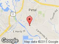 Map of Jackson Auto Sales, LLC at 1012 S Main St, Petal, MS 39465