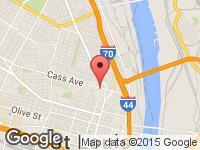 Map of SALAMA MOTORS at 1444 N 14th St, Saint Louis, MO 63106