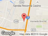 Map of Auto Solution at 5200 Alameda Boulevard Northeast, Albuquerque, NM 87113