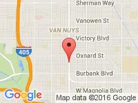 Map of Ride On Autos at 5824 Van Nuys Blvd, Van Nuys, CA 91401