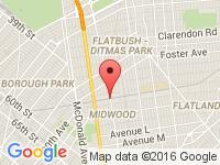 Map of Nacmias Auto Sales at 1204 Coney Island Avenue, Brooklyn, NY 11230