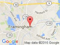 Map of Atlantis Auto City at 128 Waverly St., Framingham, MA 01702