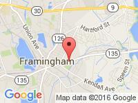 Map of Atlantis Auto City at 128 Waverly St., Framingham, MA 01702