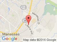 Map of Auto Max Center at 9111 Antique Way, Manassas, VA 20110