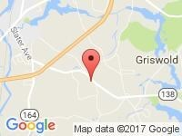 Map of B&R Auto Sales and Service at 659 Voluntown Rd, Griswold, CT 06351
