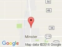 Map of Linie Hausfeld Motor Sales Inc at 300 N Main Street, Minster, OH 45865