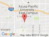 Map of Carbook Inc at 767 E Arrow Hwy, Azusa, CA 91702