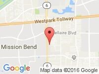 Map of LBC Auto Sales at 7355 Hwy 6 South, Houston, TX 77083