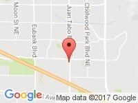 Map of Rocky Mountain Auto LLC at 801 Juan Tabo NE, Albuquerque, NM 87123