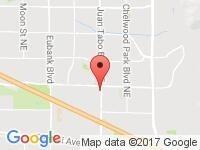 Map of Rocky Mountain Auto LLC at 801 Juan Tabo NE, Albuquerque, NM 87123