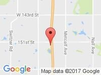 Map of ELITE AUTO KC at 15185 Lowell Ave., Overland Park, KS 66223
