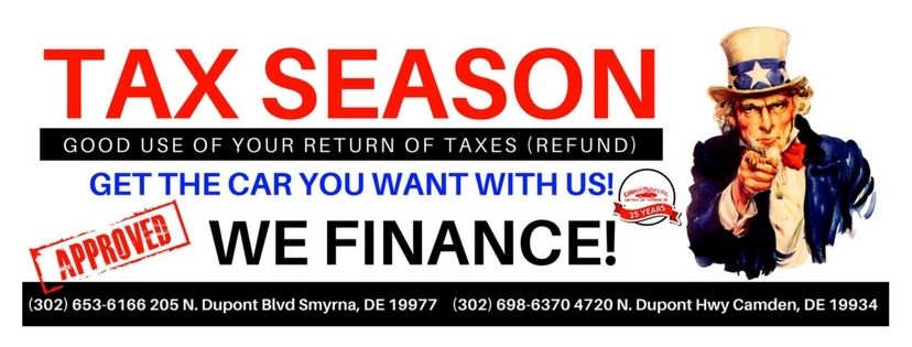 Good Use of your tax returns - Get the car you want with us - We Finance
